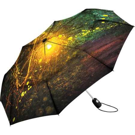 Allover-Print auf einem FARE Taschenschirm von regenschirme.com in Essen