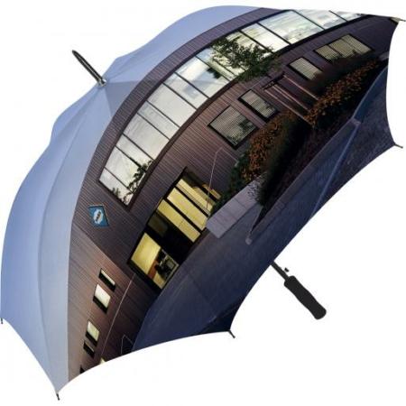 Regenschirm von FARE mit einem Allover-Print über alle Segmente des Bezugstoffes